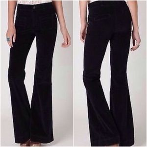 Anthropologie Pilcro High Waist Velvet Flare Jeans
